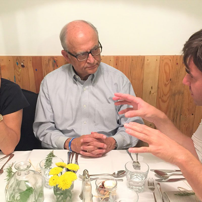 Board Chair Cathy Lieberman and Former Board Chair Geroge Drost speak with a Pro Fellow while traveling in the Balkans region