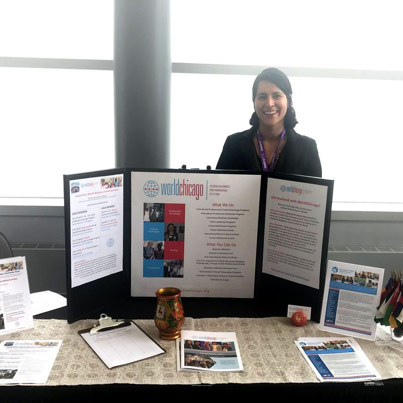 IVLP Officer, Caheri Aguilar, at the Latina Women's Expo in Chicago