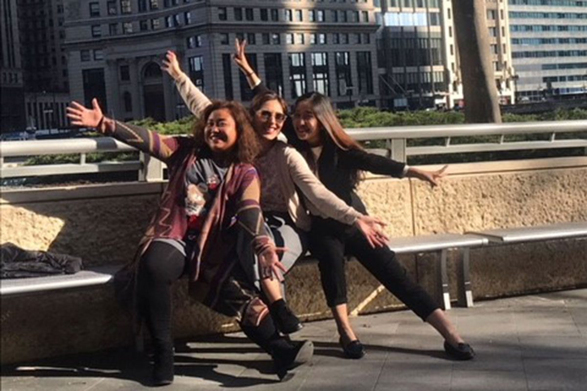 Fellows Thang, Veka, and Min in Chicago