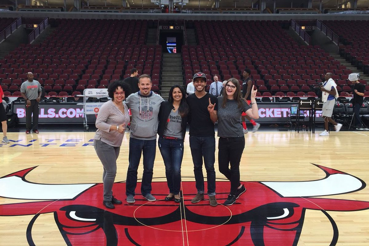 Young Leaders of the Americas Initiative fellows at the Bulls Game