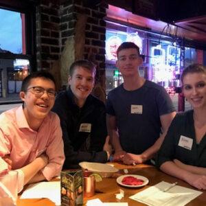 WorldChicago Interns work the YP Trivia Night in 2019!